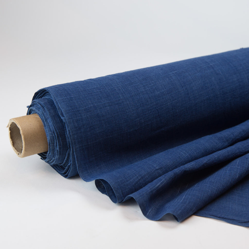 Fabric - Organic Cotton Handwoven Khadi - Yarn Dyed Natural Indigo