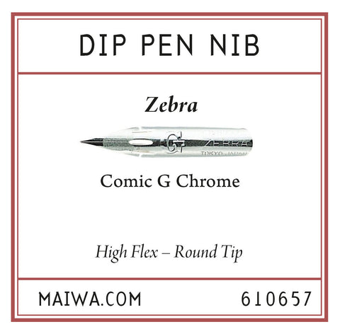 Dip Pen Nib – Zebra Comic G Chrome