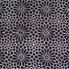 Fabric - Organic Cotton Block Printed with Natural Dyes - Black & White 16 Pointed Star