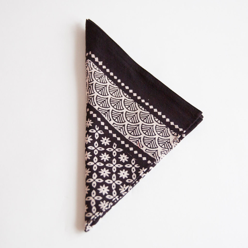 Organic Cotton Napkin - Bagh Print - Star Anise