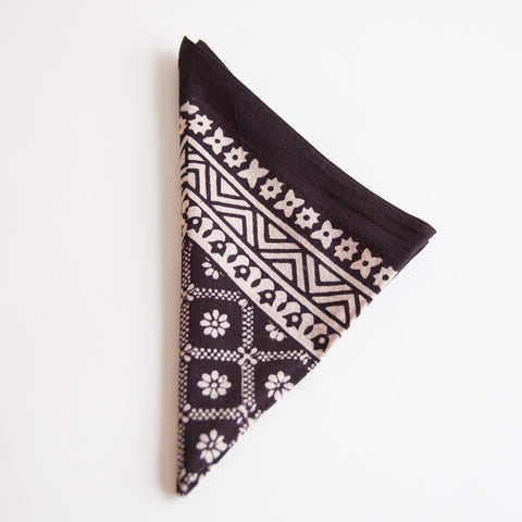 Organic Cotton Napkin - Bagh Print - Diamond Daisy