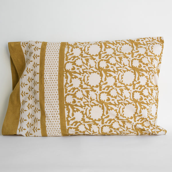 natural dyes organic cotton blockprinted bedding