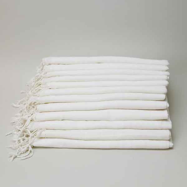 Dozen - Cotton Scarves - Clean Check Weave