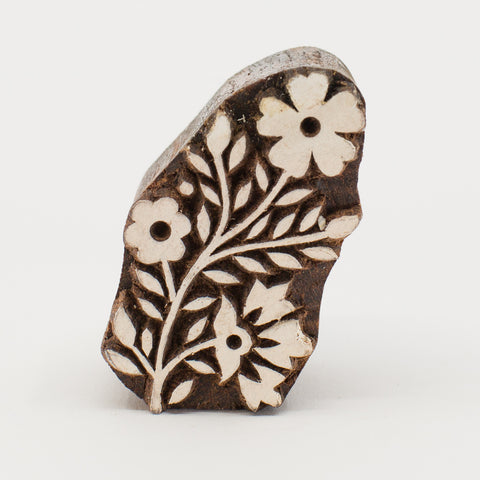 Wood Block - Spring Flowers
