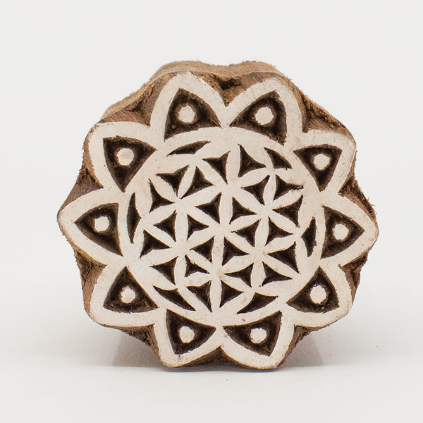 Wood Block - Flower of Life
