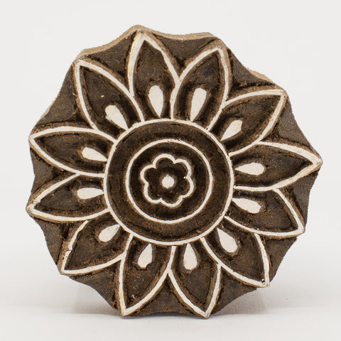 Wood Block - Flower Outline
