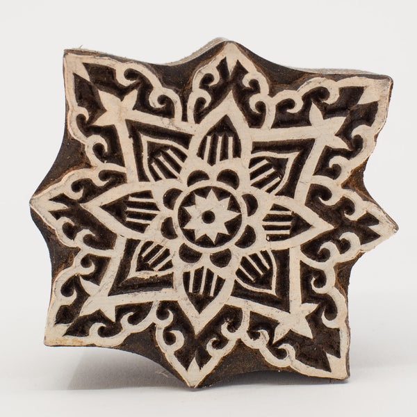 Wood Block - Star Burst