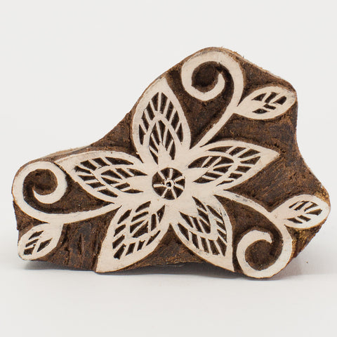 Wood Block - Flower Star