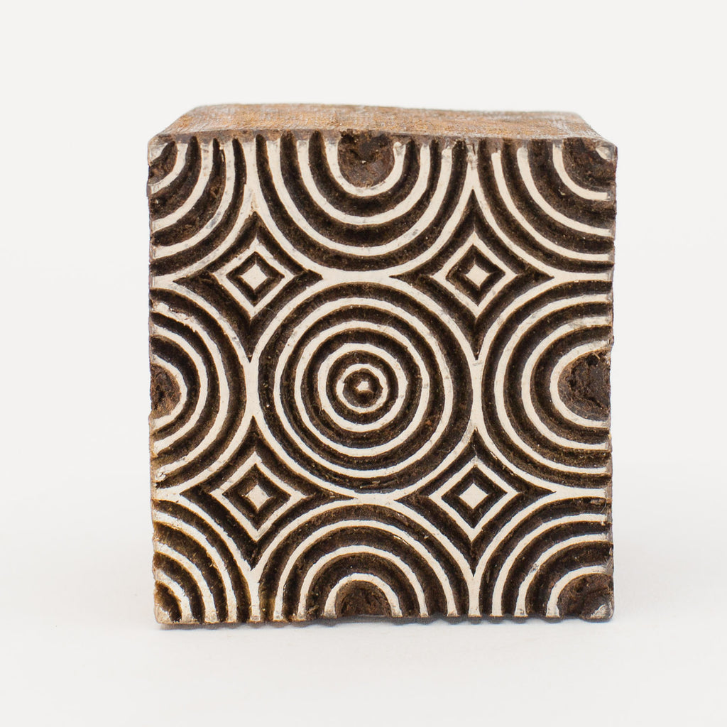 Wood Block - Concentric Circles