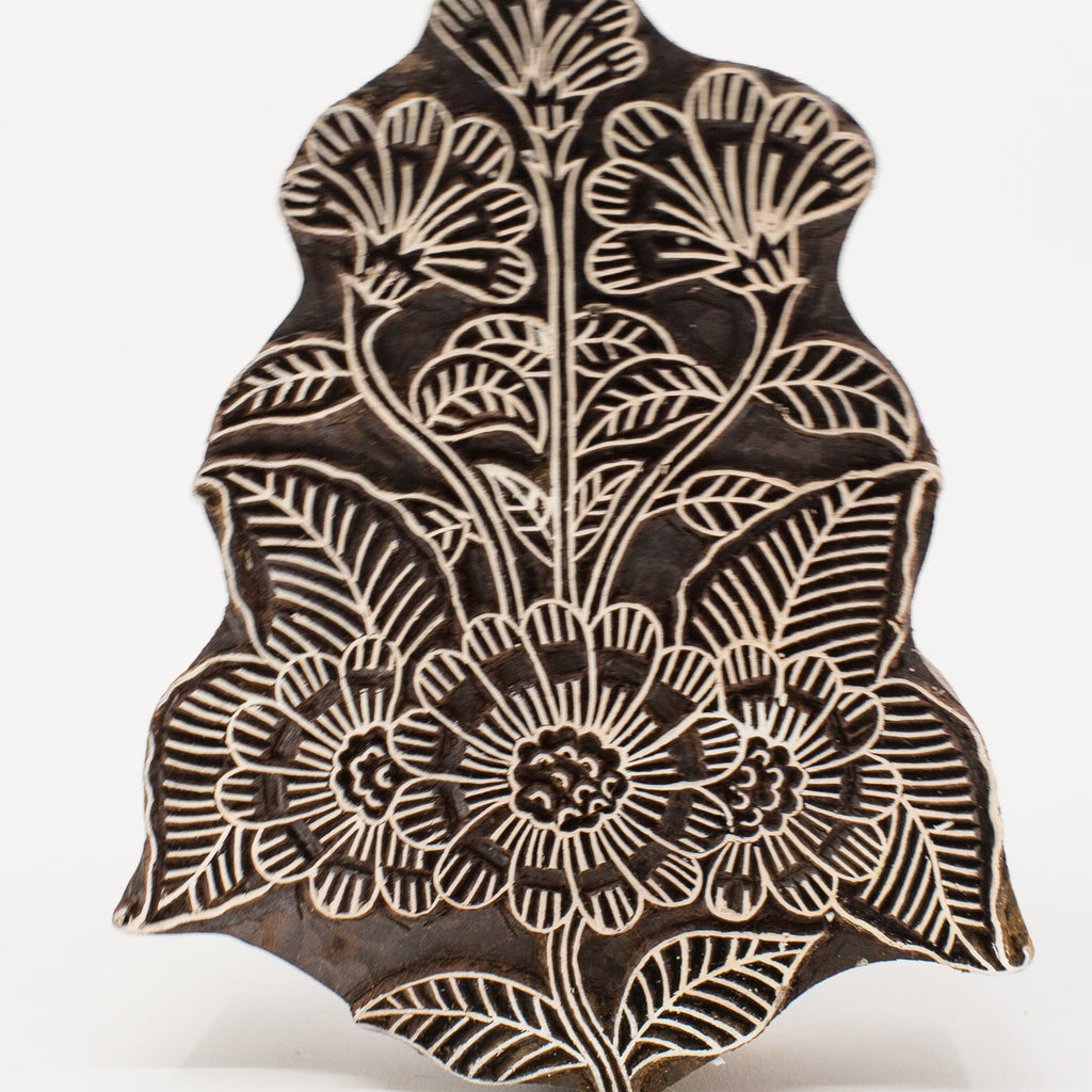 Wood Block - Flower Ornate Design #1