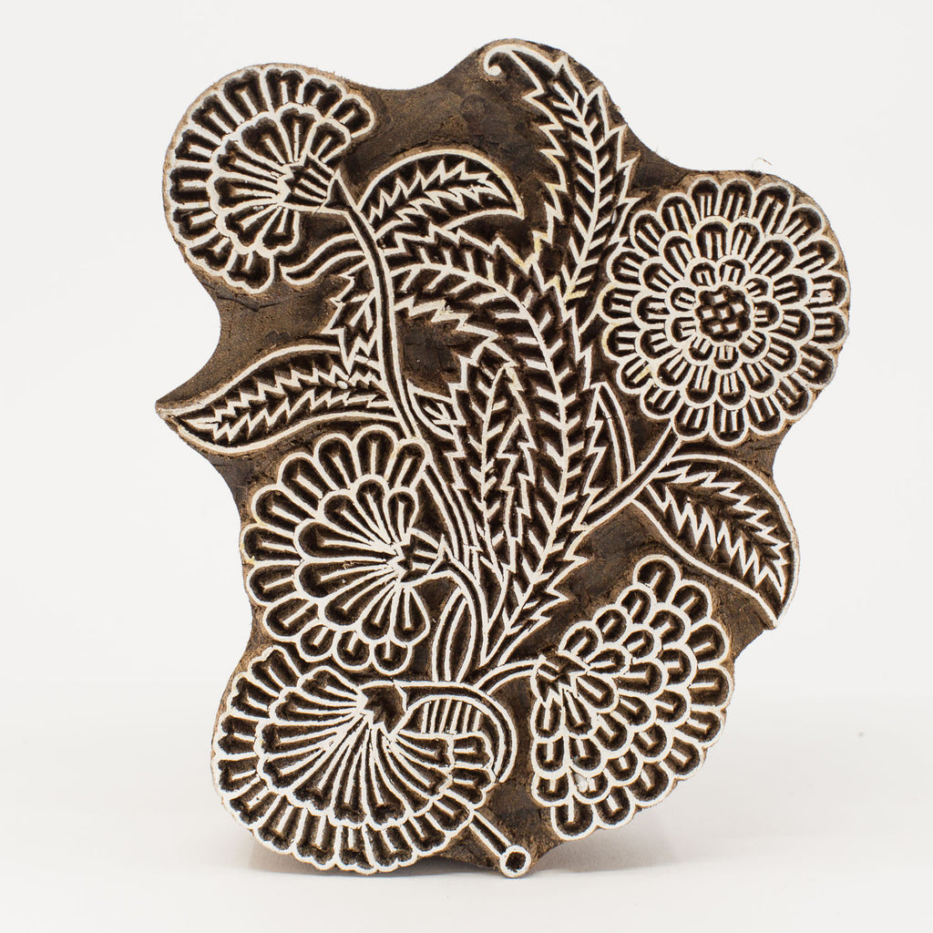Wood Block - Flower Ornate Design #2