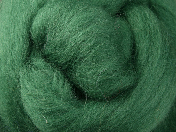 Wool Corriedale Roving - Kiwifruit 50g