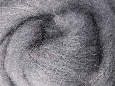Wool Corriedale Roving - Grey 50g