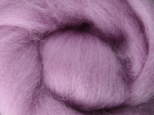 Wool Corriedale Roving - Lavender 50g