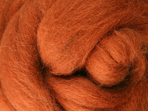 Wool Corriedale Roving - Toffee 50g