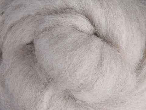 Corriedale Roving - Natural Light 50g