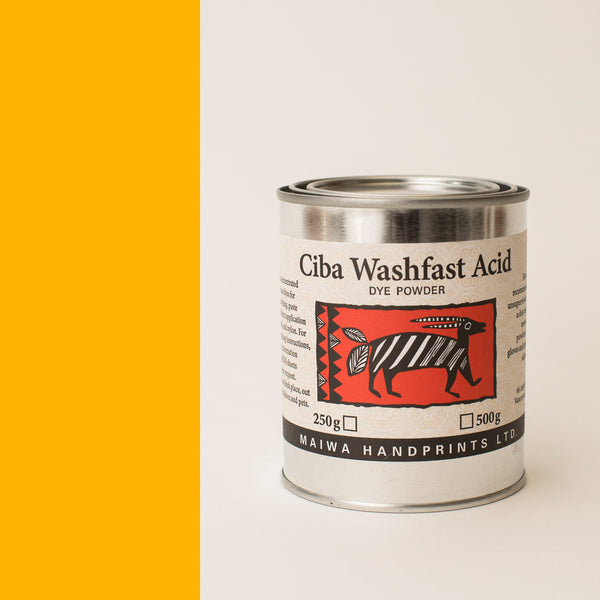 Ciba Washfast Acid Dye 250g (8.9 oz) gold yellow