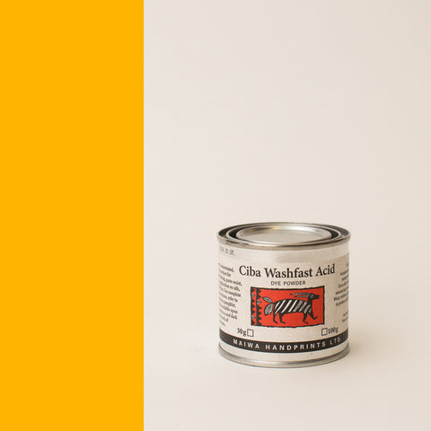 Ciba Washfast Acid Dye 30g (1.1 oz) gold yellow