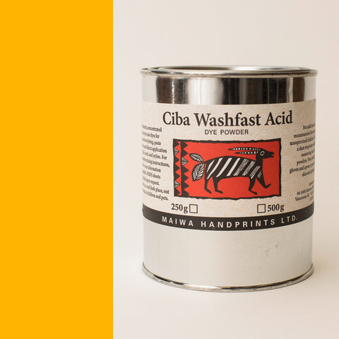 Ciba Washfast Acid Dye 500g (17.9 oz) gold yellow