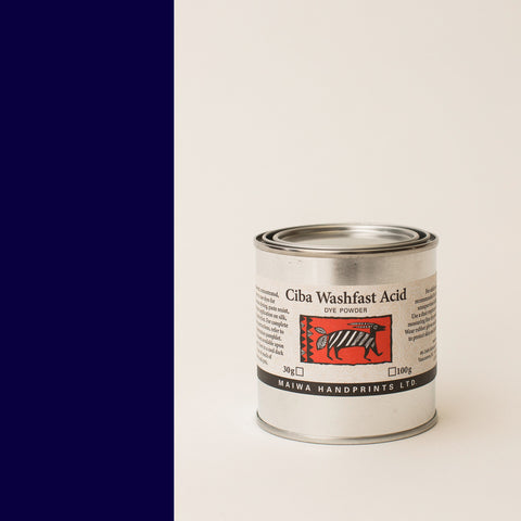 Ciba Washfast Acid Dye 100g (3.6 oz) navy