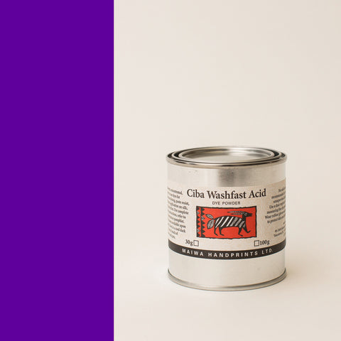 Ciba Washfast Acid Dye 100g (3.6 oz) purple