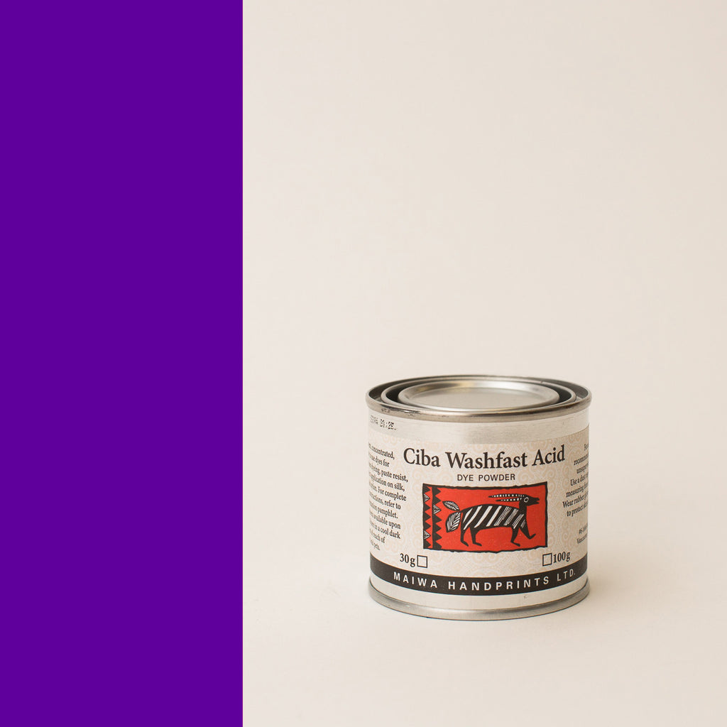 Ciba Washfast Acid Dye 30g (1.1 oz) purple