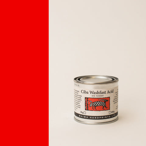 Ciba Washfast Acid Dye 30g (1.1 oz) red