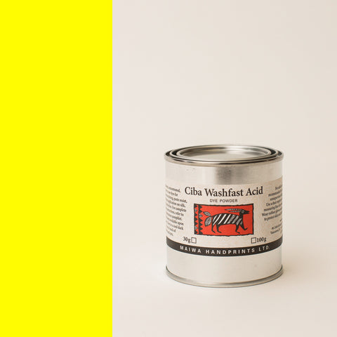 Ciba Washfast Acid Dye 100g (3.6 oz) yellow