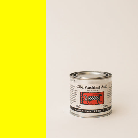 Ciba Washfast Acid Dye 30g (1.1 oz) yellow