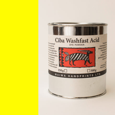 Ciba Washfast Acid Dye 500g (17.9 oz) yellow