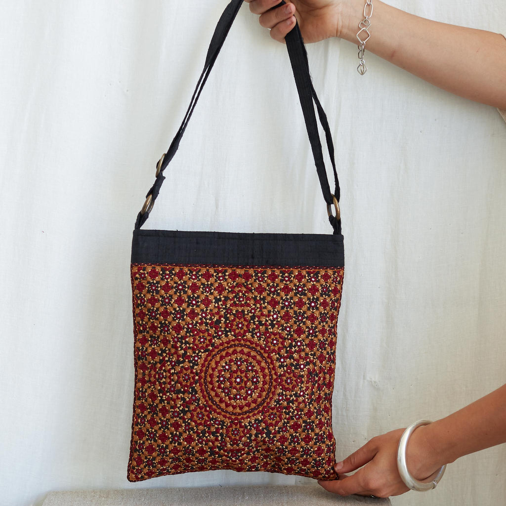 Kachchh Embroidery - Double Sided Shoulder Bag - Pattern 3