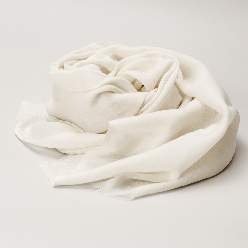 Scarf - Wool Merino Natural White