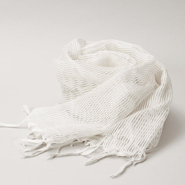 Scarf - Silk & Cotton Handwoven Thin Stripe Design
