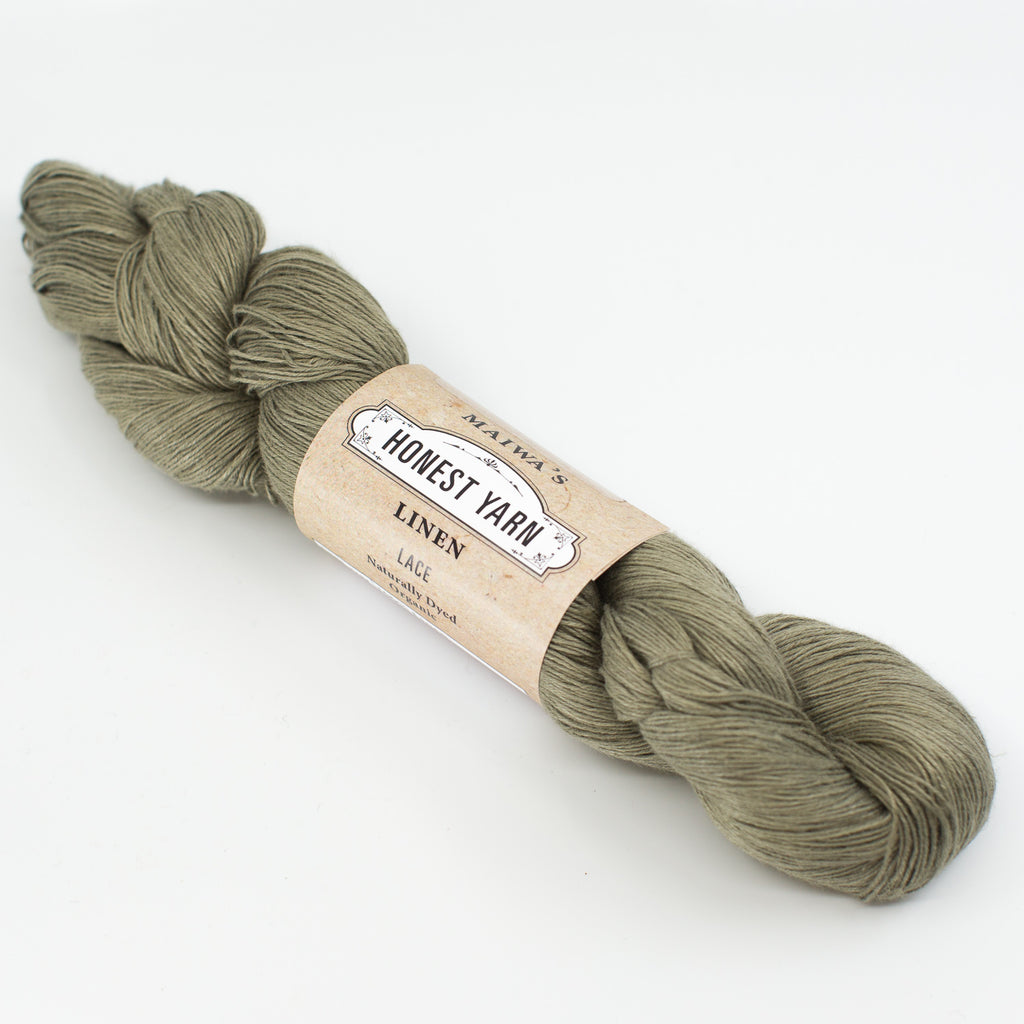Honest Yarn - Naturally Dyed Organic Linen - Lichen