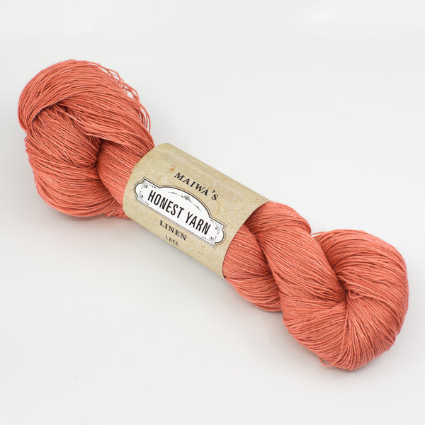 Honest Yarn - Naturally Dyed Organic Linen - Coral