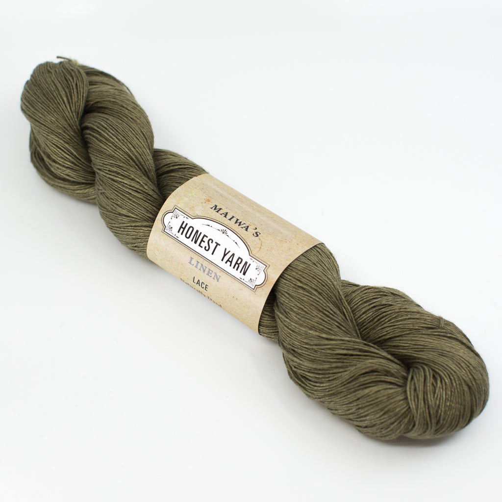 Honest Yarn - Naturally Dyed Organic Linen - Moss