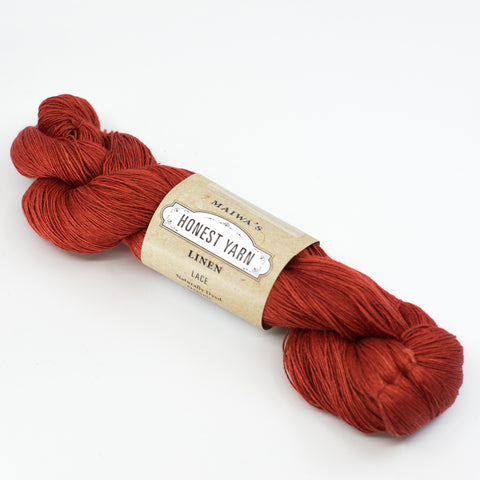 Honest Yarn - Naturally Dyed Organic Linen - Madder Dark