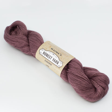 Honest Yarn - Naturally Dyed Organic Linen - Alkanet