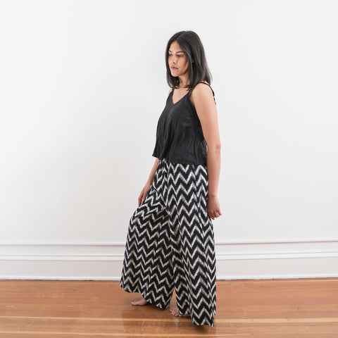 Mitti Pant - Black Zig Zag - Cotton