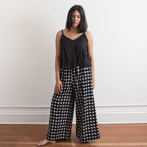 Mitti Pant - Black Grid - Cotton