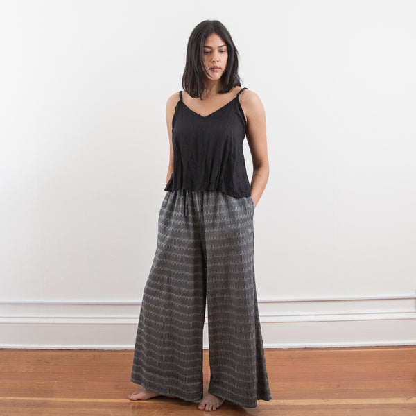 Mitti Pant - Grey Broken Stripe - Cotton