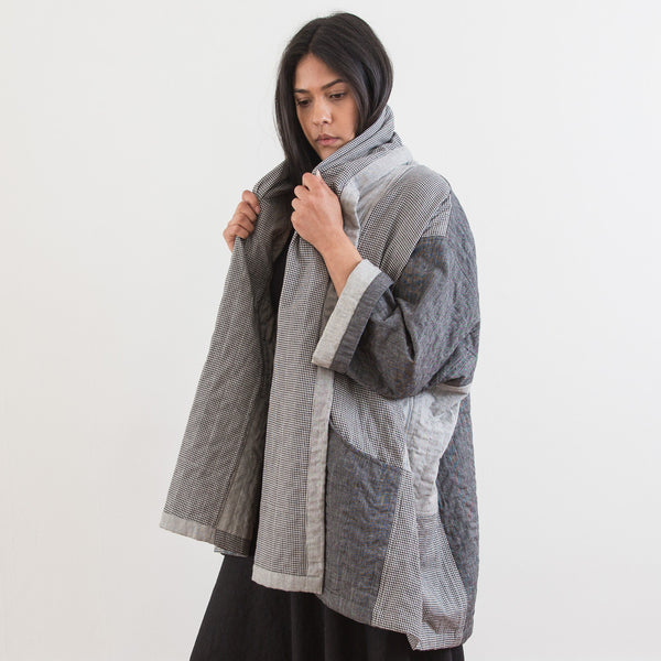 Ikat Kimono Coat - Heather Grey Simple - Cotton