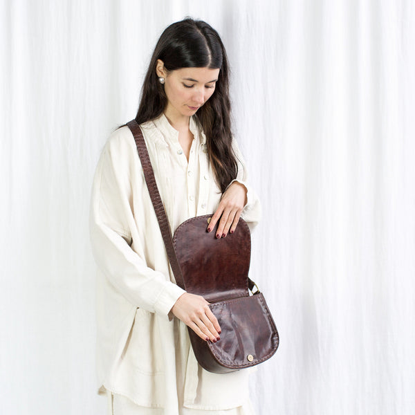 Leather Everyday Shoulder Bag - Brown
