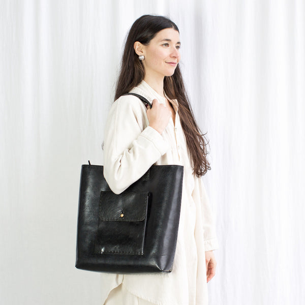 Leather Weekend Bag - Black