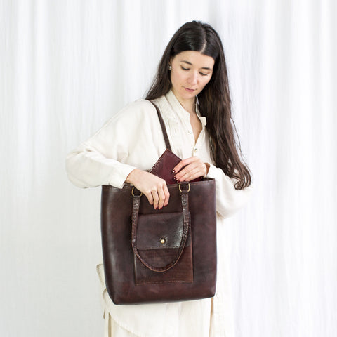 Leather Weekend Bag - Brown