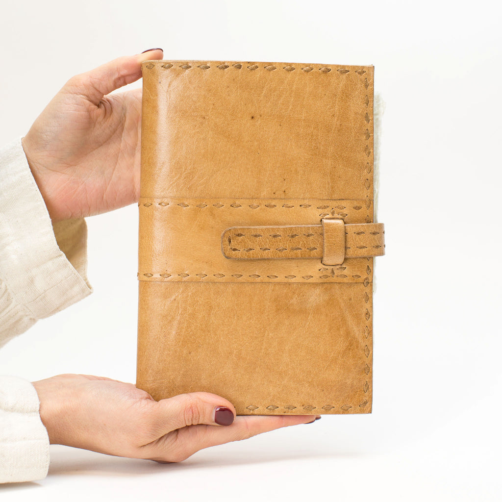 Leather Journal Cover - Tan