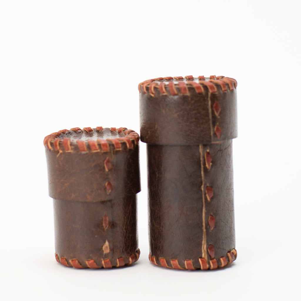 Leather Pins & Needles Case - Brown