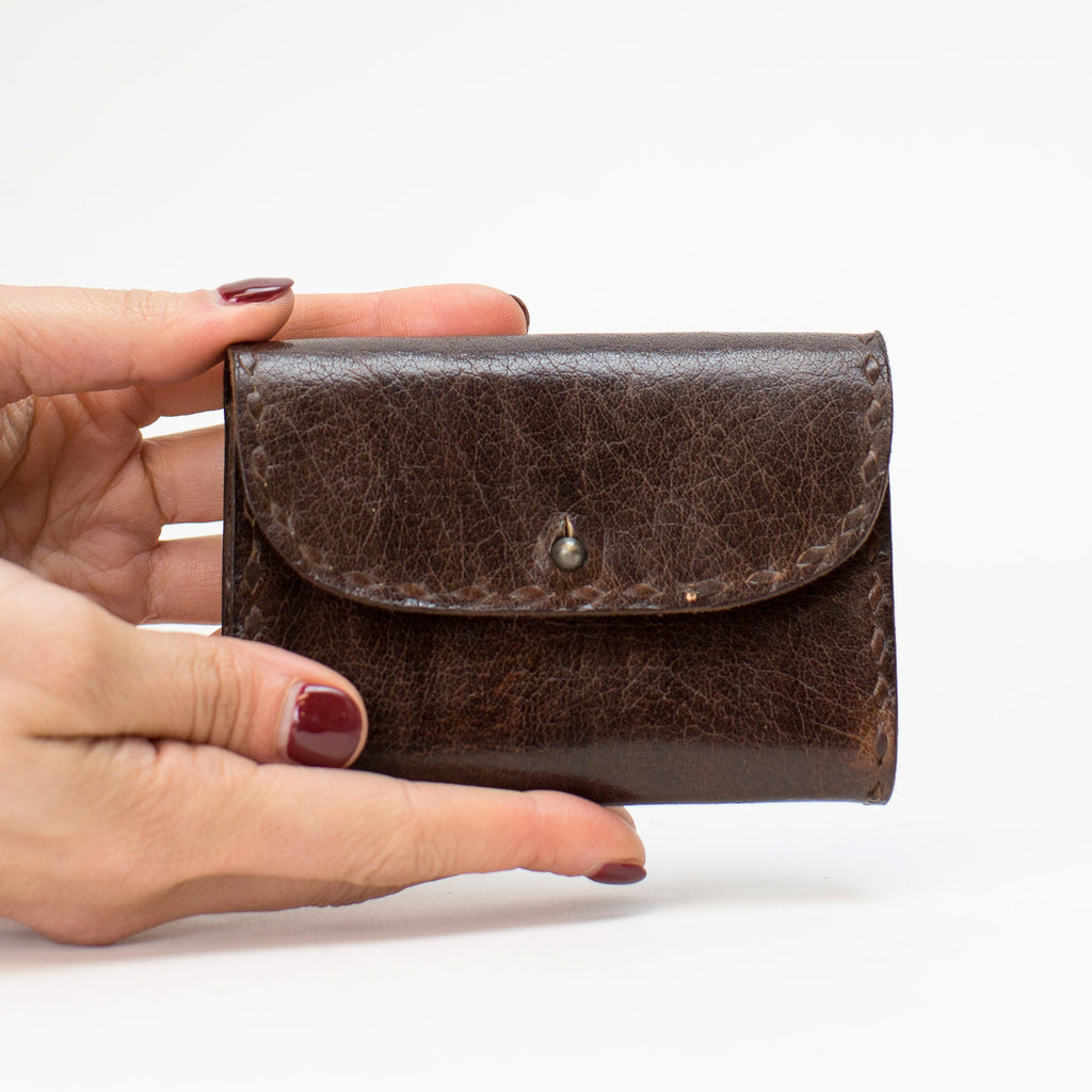 Leather Coin Pouch - Brown