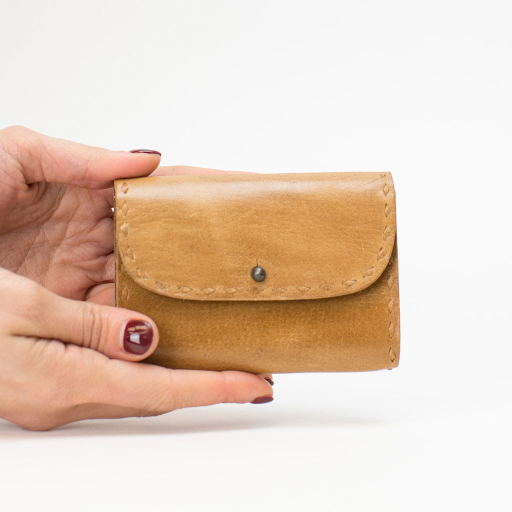 Leather Coin Pouch - Tan