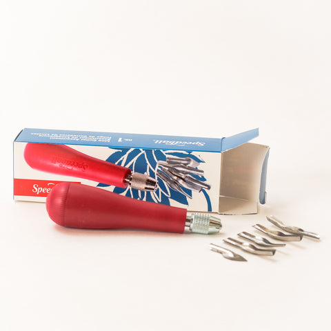 Blockprinting Cutter Set (handle and blades)